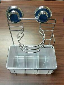 Bathroom Hair Dryer Holder Basket Caddy - Turn & Lock Suction - New            M