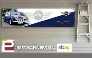 Mini Cooper Banner for Workshop, Garage, Office, Man Cave etc, John Cooper