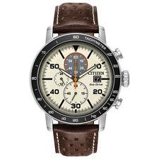 Citizen Brycen Chronograph Light Brown Dial Men's Watch - 44 mm