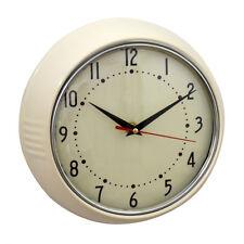 Uhr Wanduhr Küchenuhr 50s 50er Retro Design creme Vintage Metall antik Nostalgie