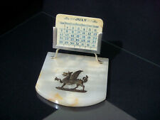 Vintage Sterling Silver LONDON 1924 C B & S Perpetual Calendar Monmouthshire Reg