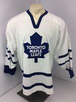 EUC VTG 90s TORONTO MAPLE LEAFS STITCHED CCM NHL WHITE HOCKEY JERSEY Sz XL