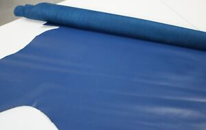 ROYAL BLUE LEATHER Cowhide Leather Slightly Firm/3 oz - 3.5 oz (1.2 - 1.4mm)