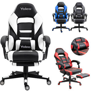 Executive Racing Gaming Chairs Swivel Office Recliner Computer Chair w/ Footrest