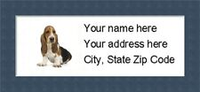 "Basset Hound  Return Address Labels  - Personalized ""BUY 3 GET ONE FREE"""