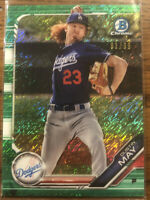 DUSTIN MAY 2019 Bowman Chrome #BCP-80 Green Shimmer Refractror 7/99