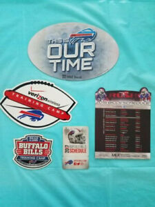 Buffalo Bills NFL Collection of Magnets Schedules