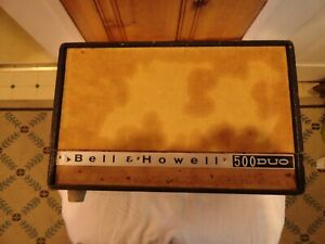 """VINTAGE Bell & Howell 500 DUO Projector Viewer Anastigmat Trionar 5"""" f 4 coated"""
