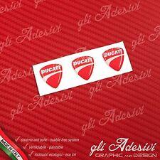 3 Adesivi Resinati Sticker 3D DucatiNew Red 20 mm