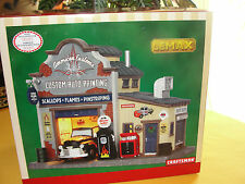 Sears Lemax 2015 Christmas Village Collection  American Custom Paint Shop Garage