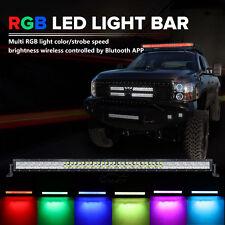 52inch 700W RGB LED Light Bar SPOT FLOOD Offroad Strobe Flash Disco Rock Party