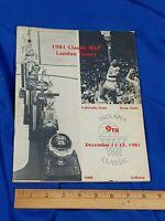 Indiana Hoosiers IU Basketball 1981 Classic Program Landon Turner Bloomington