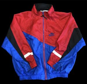 VTG NIKE Gray Tag Full Zip Windbreaker Warmup Jacket Coat Youth Size M (10-12)