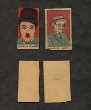 2 1926 W512 Actor Strip Cards #22 Harold Lloyd & #24 Charlie Chaplin