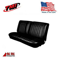 1968 Chevy Chevelle Front Bench Seat Upholstery Black Made in USA by TMI