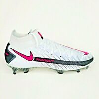 Nike Phantom GT Elite Dynamic Fit FG White Black Pink Mens Cleats Multiple Sizes