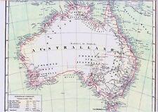 Landkarte AUSTRALIEN 1860🇦🇺🐨 Australian OUTBACK  English Colonies in 1841