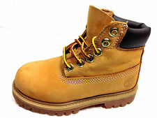KidsTimberland 6-inch Premium 12809 Toddler Leather Wheat Boots Size 9 Kids.