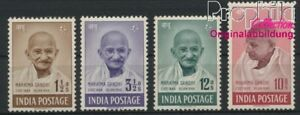 India 187-190 (complete issue) with hinge 1948 Gandhi (8882691