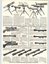 1969 PAPER AD Bausch & Lomb Rifle Telescope Scope Bushnell Spotting Scope