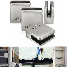 4Pcs Stainless Steel Square Clamp Holder Bracket Clip For Glass Shelf Handrails