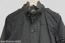 RARE $400 G-Star Raw Washed Black Cotton Biker Jacket G Star Gstar L Large M
