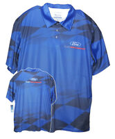 David Carey Ford Performance Polo Shirt Dry Wicking Moisture Absorbent