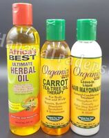 Africa's Best Carrot Tea-Tree Oil Therapy+Herbal Oil +Leave in liquid mayonnaise