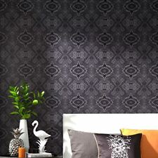TROPICS IPANEMA SNAKE SKIN WALLPAPER - BLACK - ARTHOUSE 690200 GLOSS EFFECT