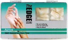 360 The Edge Active Natural Nail Tips False Art Acrylic GEL Nails Half Well Area
