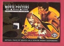 BRUCE LEE WORN SUSPENDERS SWATCH MATERIALS RELIC CARD AMERICANA MOVIE POSTERS