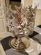 Bath & Body Works Snowflake Glittering Gems Candle Holders - Silver