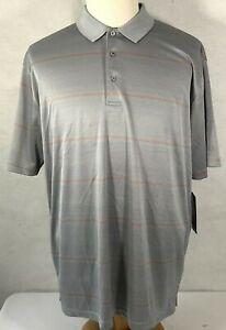 PGA Tour Motionflux 3 Button Men's Polo Shirt XXL Tradewinds Polyester NWT