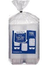Nacho tray 1000 Clear 2 Compartment  6.5 x 5