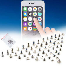 2 Silver Bottom Screws And Full Set Screws Replacement For Apple iPhone 6 4.7""