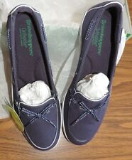 GRASSHOPPERS BY KEDS WINDHAM CANVAS SLIP ON NAUTICAL SHOES SKIMMERS BLUE Sz 10 M