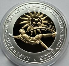 2006 Poland Polen 10 zlotych Silver 925 The 2006 FIFA World Cup: Germany Gilded