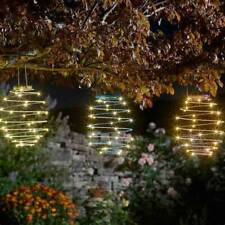 SOLAR POWERED OUTDOOR GARDEN METAL SPIRAL WITH LED LIGHTS PATIO