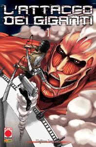 L'Attacco dei Giganti N° 1 - Ristampa - Planet Manga - Panini Comics - ITALIANO