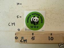 STICKER,DECAL PANDA WWF WERELD NATUUR FONDS B