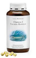 400 Fischöl Kapseln (1 Dose) von Sanct Bernhard Omega 3 Fettsäuren EPA und DHA