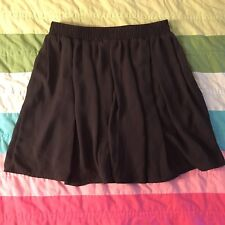 Brany Melville Black Pleated Mini Skirt One Size OS A152