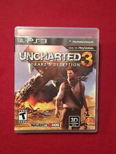 Sony Playstation PS3 Video Game Uncharted 3 Drake's Deception Rated T