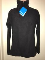 COLUMBIA Women's Glacial Fleece III 1/2-Zip Mockneck Jacket BLACK Size S NEW Tag