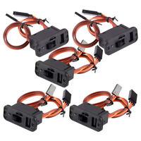 5x Heavy Duty RC-Schalter LED-Batterie Aus für RC JR Futaba-Leitungsanschlüsse