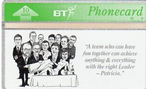 BTL010 PATRICIA VAZ  (2) MINT PHONECARD ONLY 10 CARDS PRODUCED Cat RRRR
