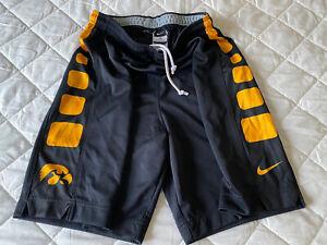 New Official Team Issued Iowa Hawkeyes Basketball Jersey Shorts Nike Mens Medium