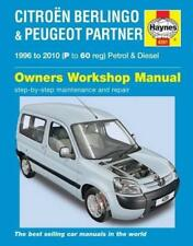 Haynes PEUGEOT PARTNER (96-10) QUICKSILVER TOTEM Owners Service Manual Handbook