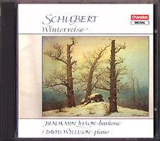 Benjamin Luxon: Schubert hiver Voyage d.911 David Wilson Chandos CD 1990