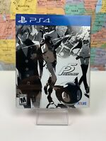SHIPS SAME DAY Persona 5 Steelbook Slip Cover Launch Edition PS4 Complete Tested